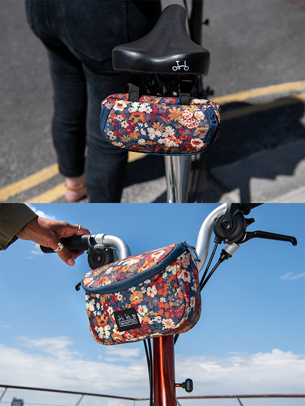 Brompton bags made with Liberty fabric