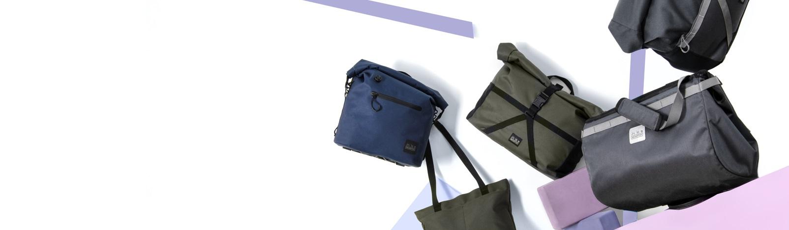 Bicycle transport bags, panniers, Brompton Bicycle MY20 luggage
